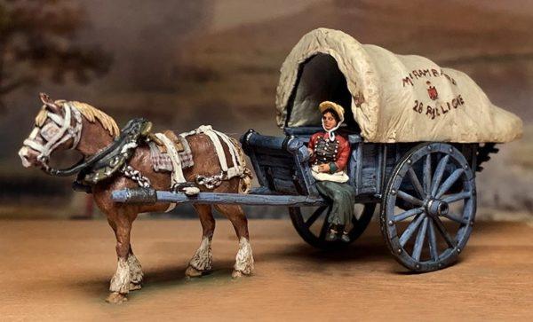 Franz. Vivandrine mit Wagen