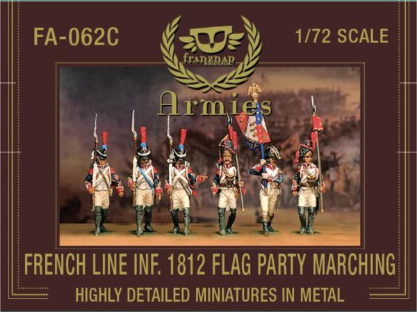 Franz. Linieninfanterie, Flaggenparade